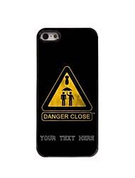 caja del teléfono personalizado - primer caso de diseño de metal peligro para el iphone 5 / 5s