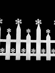 Larger White Foam Snowflake Fence Christmas Decorations