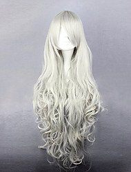 Black Butler rainha victoria peruca cosplay branca