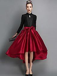 v&E женские проверки печати бальное платье юбки