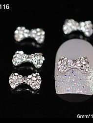 10pcs netter bowtie diy Glitter Strass-Legierung Zubehör Nagelkunstdekoration