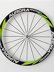 AURORA  700c Road Bike,Bicycle 38mm Depth 25mm Width Full Carbon Tubular Wheels