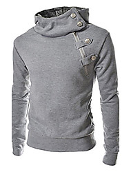GRG Men's Korean Buckle Hoodie Sweater