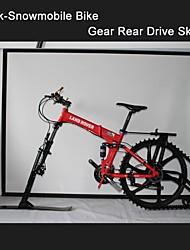 """26 """"polegadas ktrak-snowmobile kit engrenagem bicicleta hm ™ traseira de esqui de neve mountain bike snowmobile k-Trak kit ski ktrak ciclo"""