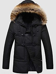 Skymoto® Men's  Fur Collar Thick Plus Size  Cotton  Coat (More Colors)