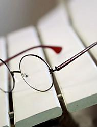 [Free Lenses] Metal Round Full-Rim Retro Prescription Eyeglasses