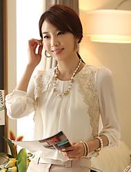 Frauen Chiffon- Hauchhülse Shirt