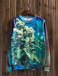 Pull à Capuche & Sweat-shirt ( Mélange de coton ) Tous les jours - Imprimé à Manches longues pour Pour des hommes