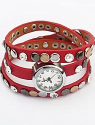 Women's European Style Elegance Wrapped Popular Bracelet Watch (Assorted Colors)