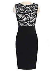 Mufans Women's Lace Fitted Dress 0746