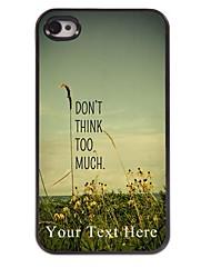 cas de téléphone personnalisé - ne pense pas trop cas de conception en métal pour iPhone 4 / 4S