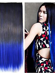 Pelucas de Cosplay Cosplay Kuroh Yatogami Negro / Azul Mediano Animé Pelucas de Cosplay 55 CM Fibra resistente al calor Hombre