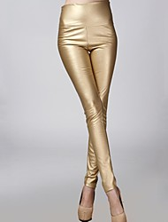 incern®women ist dehnbar edle weiße Leder Samt Hose (mehr Farben)