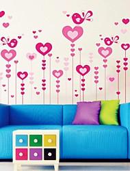 Romanze Liebe Stil dekorative Wandaufkleber Wandtattoos