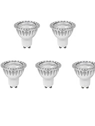 9w gu10 regulable (= 75w halógeno) cri duxlite® 5pcs>80 1xcob 810lm blanco frío / caliente llevó el bulbo punto (ac 220-240v)