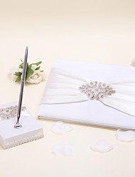 1 Pen Holder and 1 Guest Book Collection Set Ivory Guest Book / Pen Set