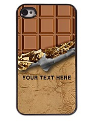 Personalized Phone Case - Sweet Chocolate Design Metal Case for iPhone 4/4S