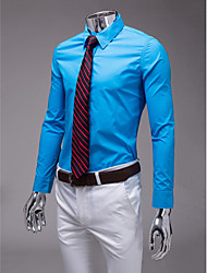 Himmel blau Slim Fit Langarm-Shirt