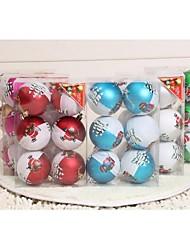 6 Pcs a Box 8cm Christmas Balls, Christmas Decoration Christmas Tree Ornament