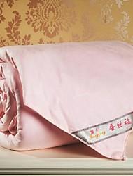 reiner Seide Quilt rosa Feststoff Tröster