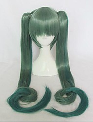 VOCALOID  Miku Grediant Green Cosplay Wig