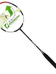 Fangcan branco com grafite preto badminton raquete defensiva