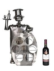 fanjiushi ® server di metallo enorme rack vino decorazioni ufficio arredamento della casa scrivania arte 44-1871
