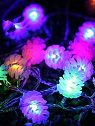 Christmas Pine Cones 4.5M 28 LED Colorful  String Lights