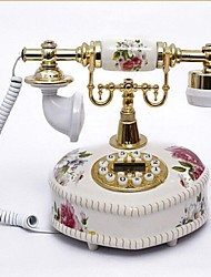 Heart Style Retro Ceramic Home Decor Telephone with ID Display
