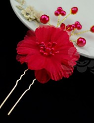 Women's Pearl Alloy Headpiece-Wedding Special Occasion Hair Pin
