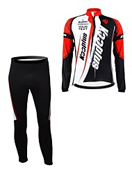 KOOPLUS® Cycling Jersey with Tights Women's / Men's / Unisex Long Sleeve BikeBreathable / Thermal / Warm / Waterproof Zipper / Wearable /