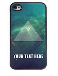 personalizzato del telefono caso - triangolo di caso di disegno del metallo per il iphone 4 / 4s