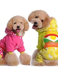 Inverno cachorro cão de estimação quentes roupas acolchoadas bonito casaco roupa do cão cores sortidas de animais e tamanhos variados