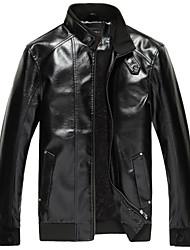 riqi мужские новые падение зимние кожаные пальто l2045