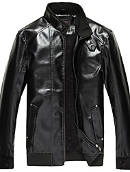 novos de inverno queda casaco de couro l2045 homens riqi