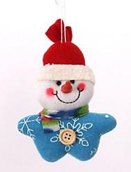 árbol de navidad decoración muñeco de nieve de la felpa