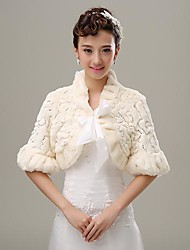 Fur Wraps / Wedding  Wraps Coats/Jackets Half-Sleeve Faux Fur Wedding / Party/Evening Lace-up