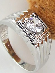 Korean Style Contracted Square Rhinestone Men's Ring