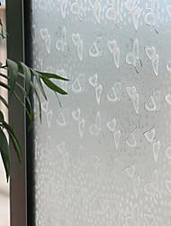 anmutigen weißen Schmetterling Fensterfolie - 0,5 x 5 m (1,64 × 16,4 ft)