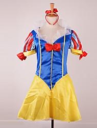 encantadora princesa de la nieve blanca mangas cortas satén traje de cosplay