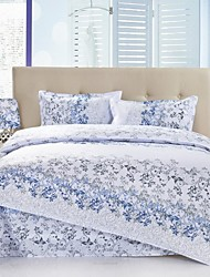 Mingjie Blue Leaves Bedding Sets 4pcs Duvet Cover Sets Bed Linen China Queen Size and Full Size