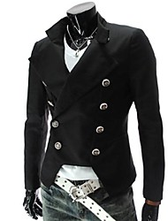 Men's Long Sleeve Casual Jacket,Cotton Blend Solid Black / Red / White