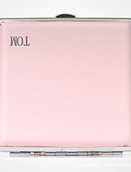 Personalized Father's Day Gift Pink Metal Cigarette Case Leather  (20)