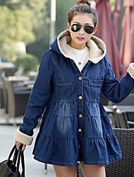 pele de guaxinim zip algodão outerwear das mulheres