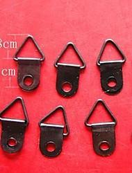 12pcs / set blocage accessoires 1.0cm couleur noir