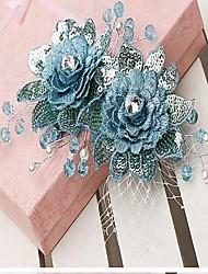 strass posta copricapo fiore sposa (più colori)