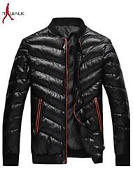 MANWAN WALK®Men's Casual Slim Solid Down Jacket.