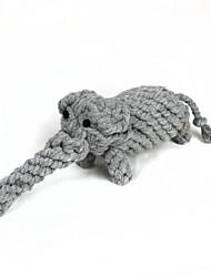 jouets en corde de coton de style éléphant, les chiens et les chats (1pcs, gris) animaux de compagnie