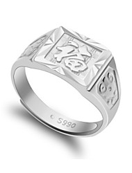 q-schöne Herrenmode Vintage-Silber-Ring