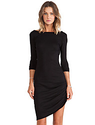 Bela Women's European Slim Long Sleeve Dress